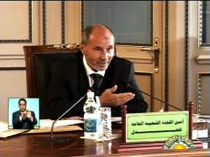 مصطفي عبدالجليل وزير العدل، يبدو وكأنه يرأس الآجتماع