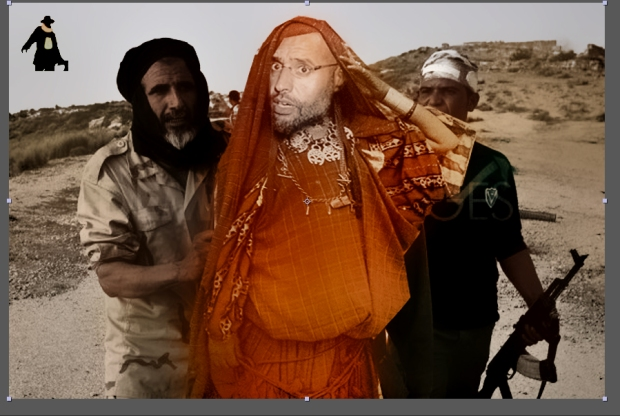 saif gaddafi escaping