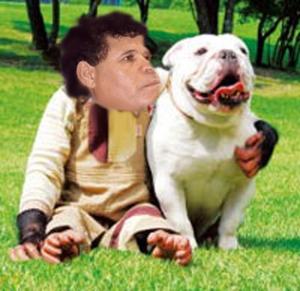 مع كلبه.. شوفوا اموال الشعب الليبي وين كانوا يصرفوا فيها