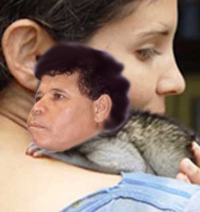 سيدة مجهولة تحمل القردة، ربما اوكرانيا